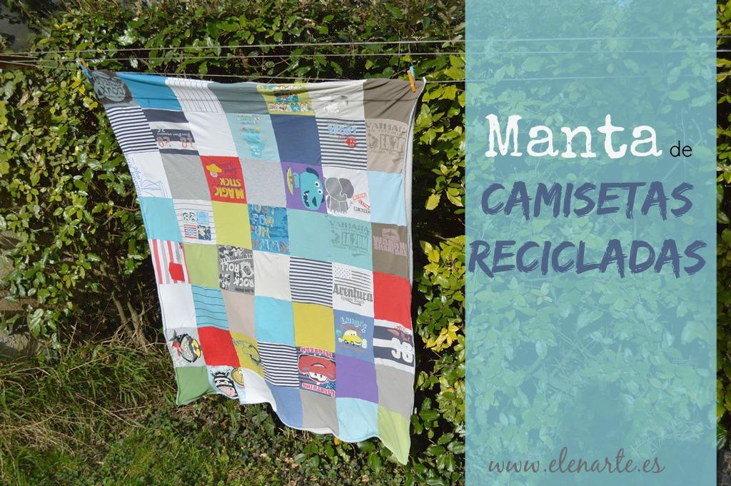 manta de camisetas recicladas