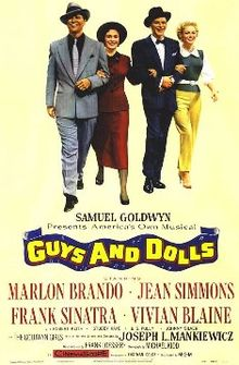 Film Poster Guys and Dolls 1955 movieloversreviews.blogspot.com