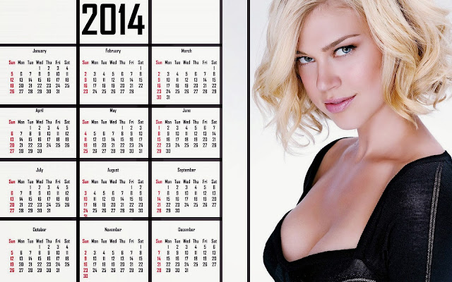 Adrianne-Palicki-Hot-sexy boobs Black-bikini 2014-Calendar
