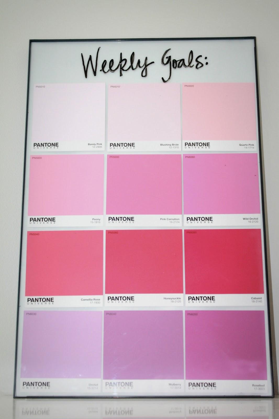 4 diy pantone paint chip memo board shannon claire for Paint planner