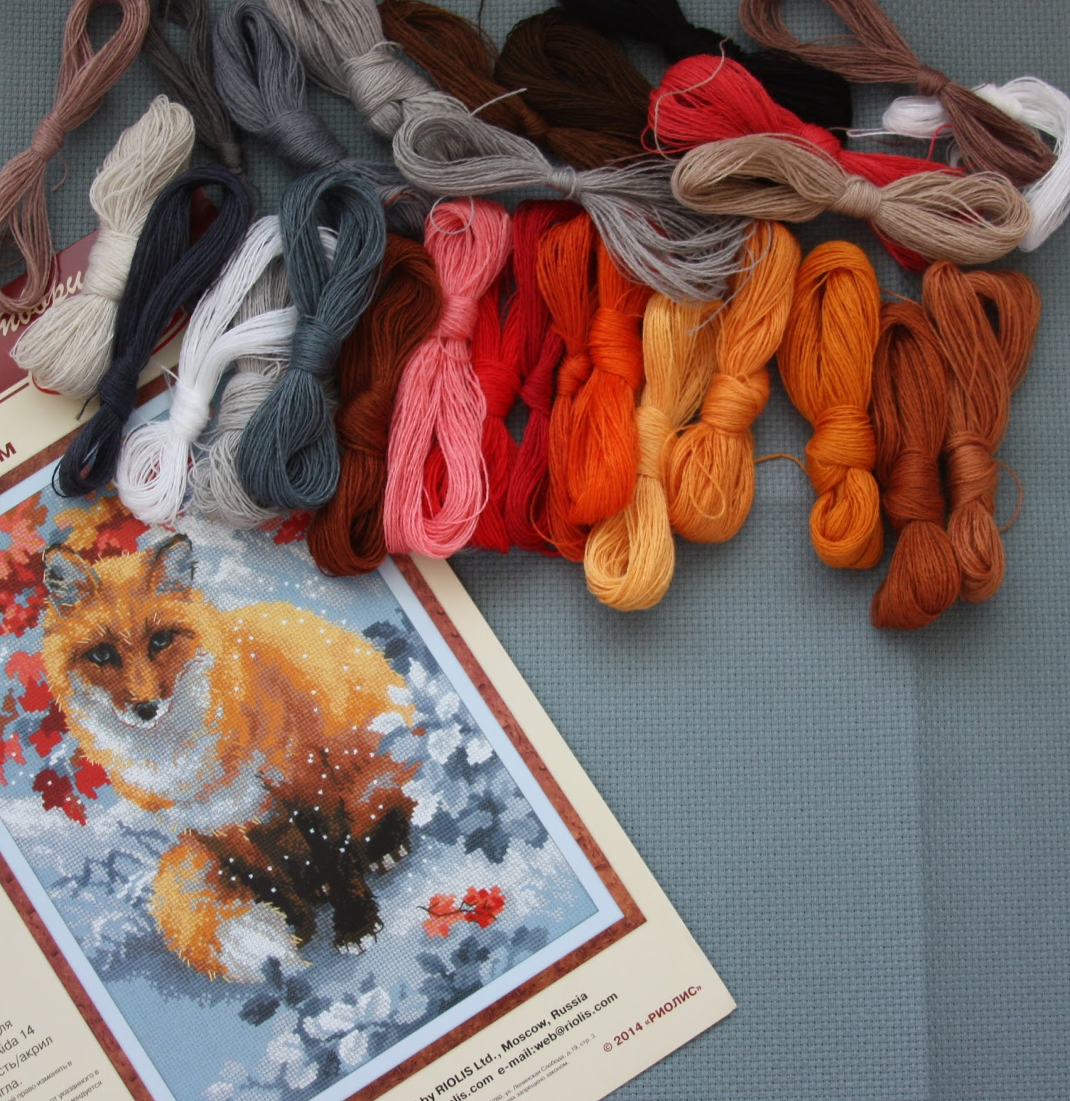 Лисичка вышивка риолис 26