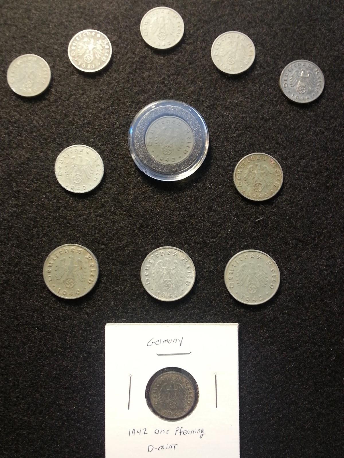 WW2 German 5 Mark Silver Coin Potsdam Garrison Church 2-Small Swastikas 1 One