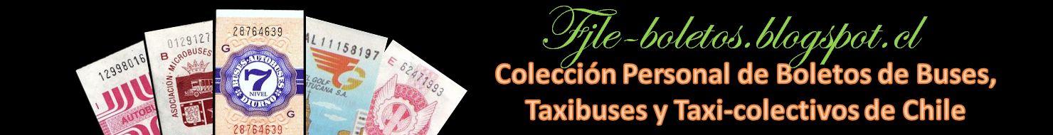 Colección de boletos de buses, taxibuses y taxicolectivos de Chile