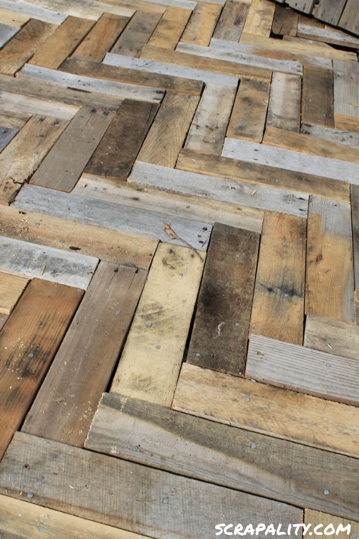Project Pallet Deck on deck board planter box