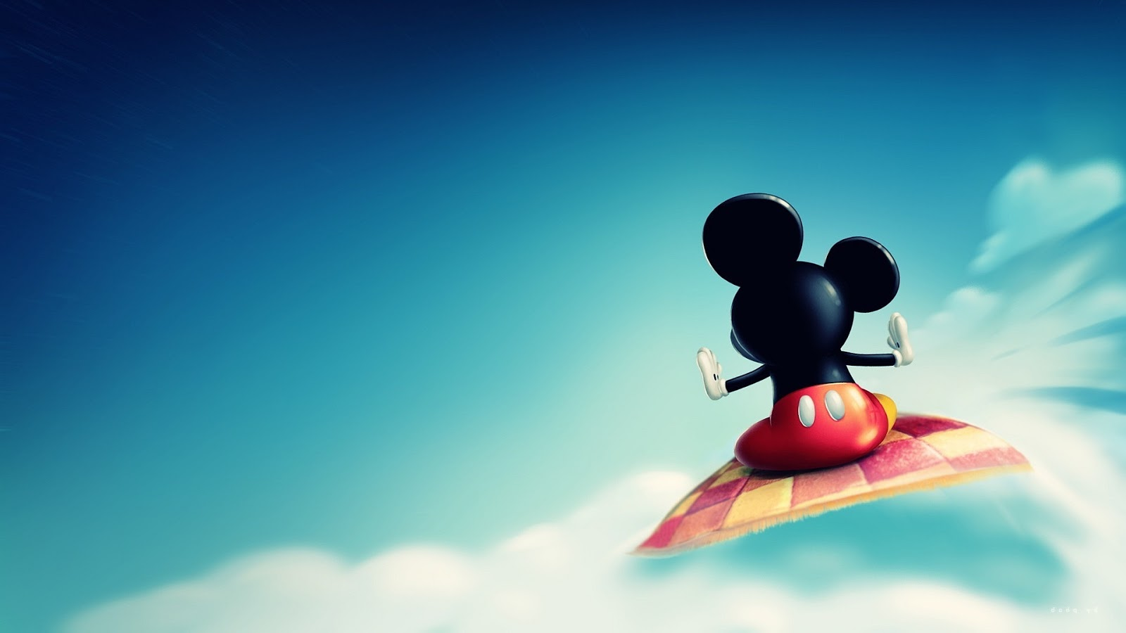 mickey mouse flying carpet ~ mystery wallpaper
