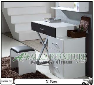 Meja rias minimalis modern desain X-box