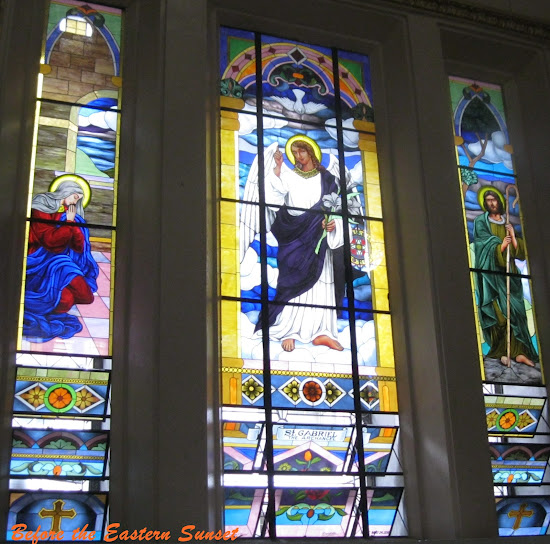 Stained-glass window of Binondo Church