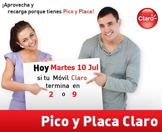 pico y placa claro colombia hoy Martes 10 julio 2012 hoy es dia pico y
