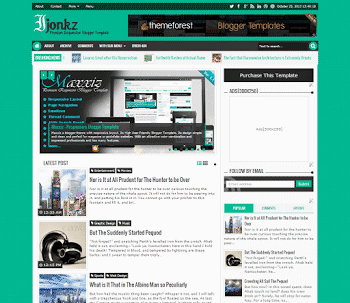 Ijonkz Premium Responsive Blogger Template full free download with customization
