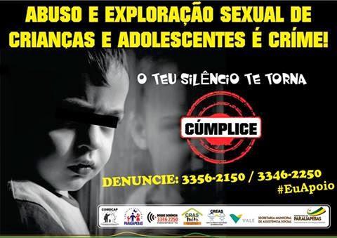 NOSSA ESCOLA APOIA ESTÁ CAUSA E DIZ NÃO A ABUSO E EXPLORAÇÃO SEXUAL DE CRIANÇAS E ADOLESCENTES.