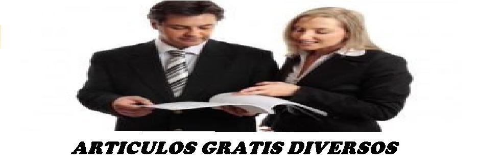 ARTICULOS GRATIS DIVERSOS