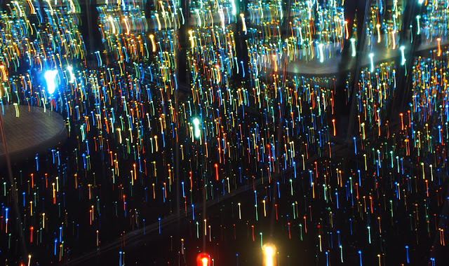 Always Look Down, Inside the mirrored infinity room by Kusama, 2013