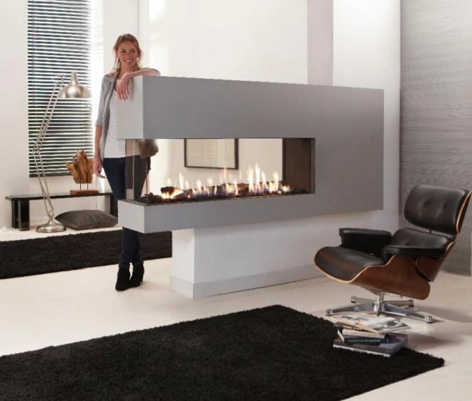 Hogares frescos fabulosas chimeneas minimalistas - Chimeneas minimalistas ...