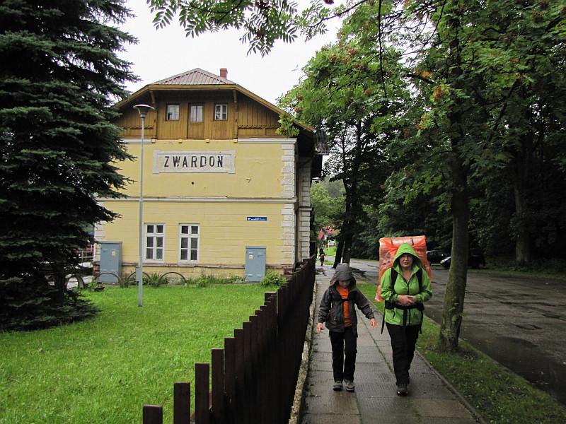 Zwardoń - dworzec kolejowy.