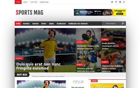 Sports Mag - Template Blog Responsive untuk Majalah Olahraga