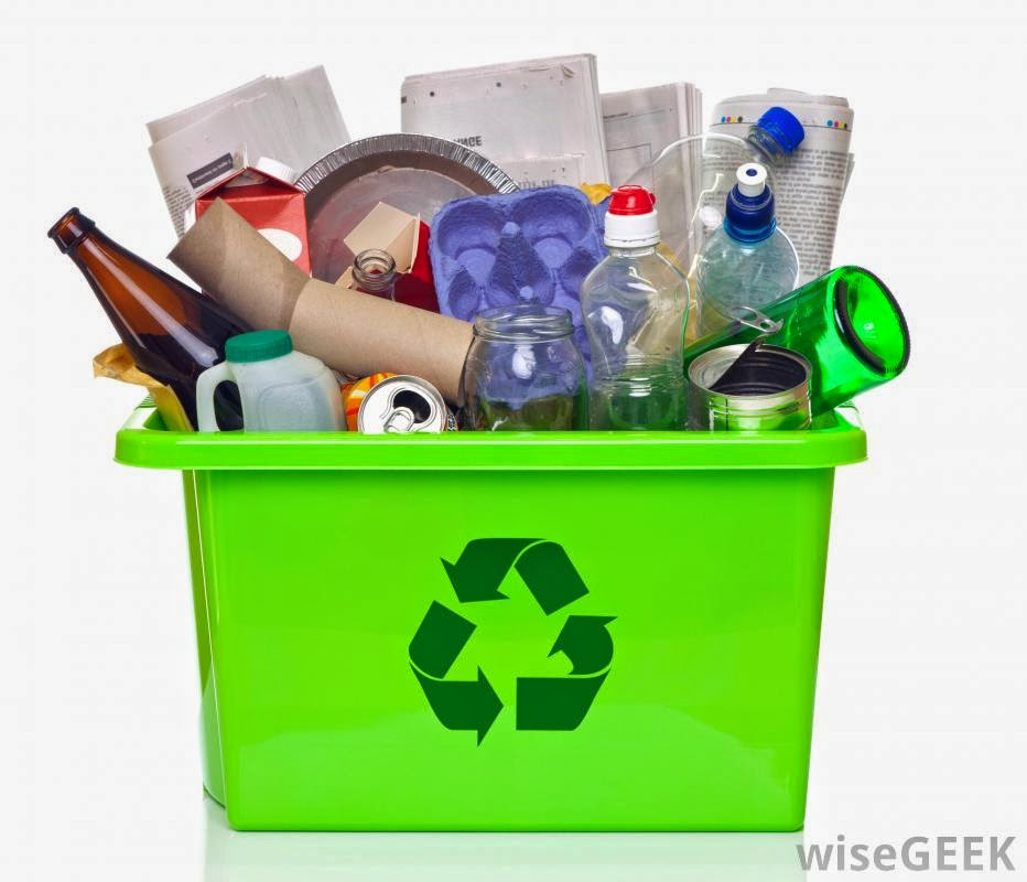 green plastic bins