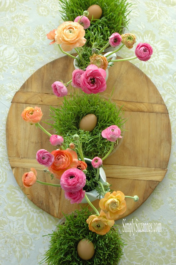 ranunculus-inspired table