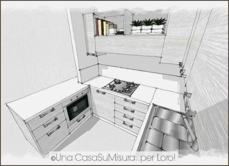 Una casasumisura per loro una casasumisura per voi la cucina di sabrina - Cucine ad angolo misure ...
