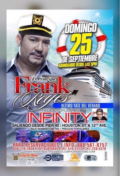 FRANK REYES en el INFINITY de NEW YORK