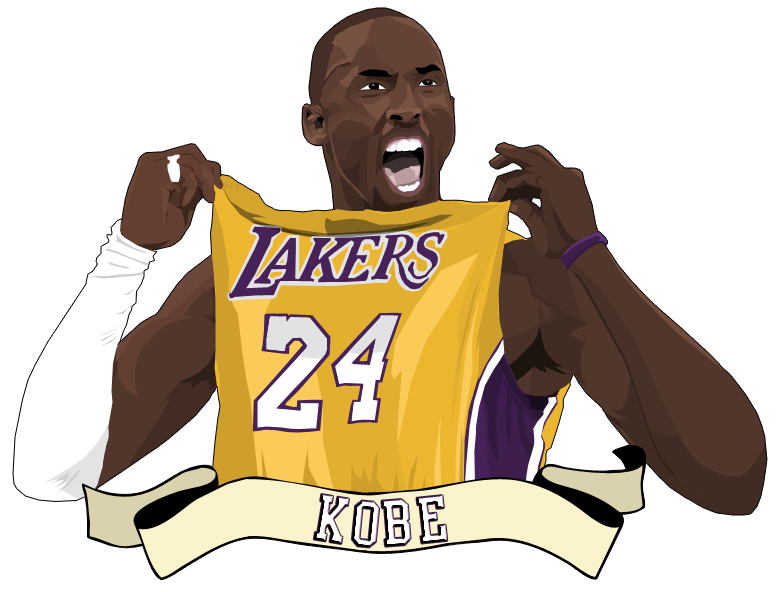 cartoon pictures of kobe bryant Lakers Drawings how to draw the los angeles lakers logo
