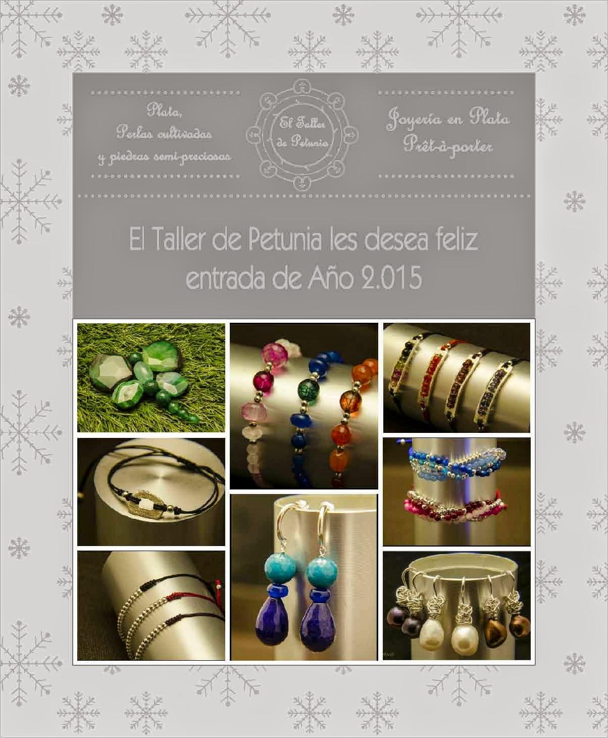 Feliz 2015, joyería en plata artesanal personalizada