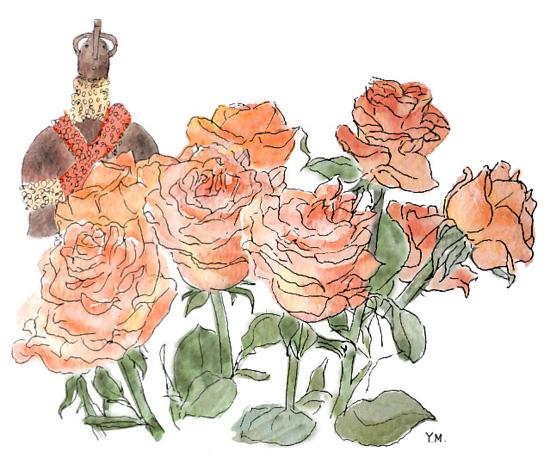Roses by Yukié Matsushita
