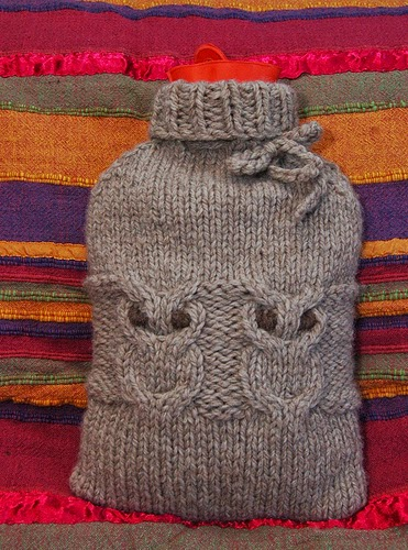 Deviant Stitches Hoot Water Bottle Cozy