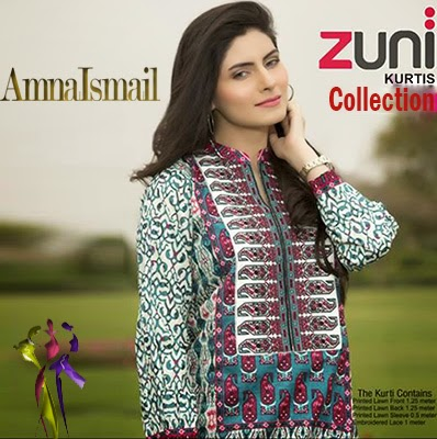 Zuni Summer Kurti Collection 2015 by Amna Ismail