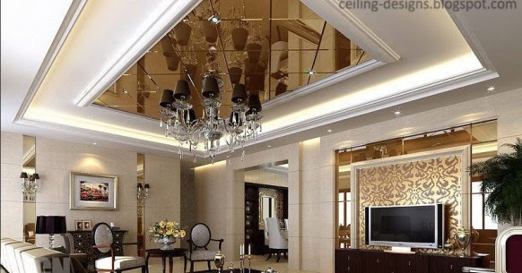 Tray Ceiling Design With Mirror Ceiling Tiles