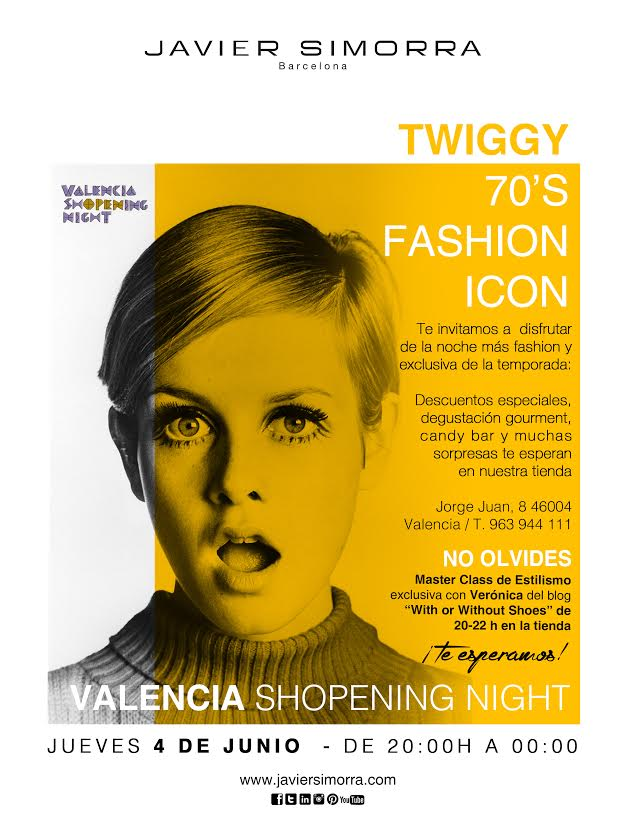 70s Fashion Icon Valencia Shopening Night con blogger valenciana Veronica del blog withorwithoutshoes