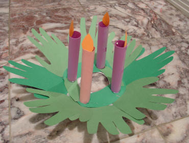 advent wreath craft no burn construction paper wreath that is