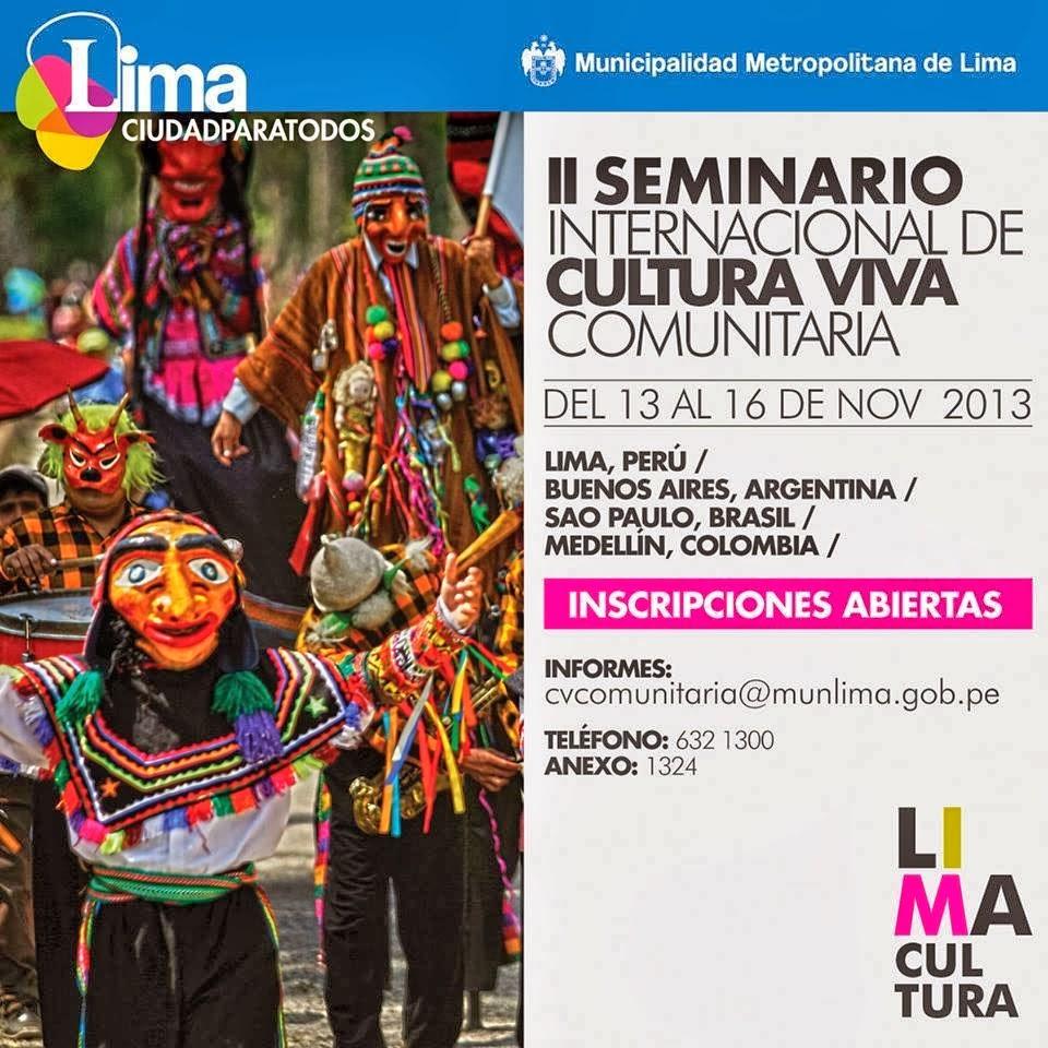 2do SEMINARIO INTERNACIONAL DE CULTURA VIVA COMUNITARIA