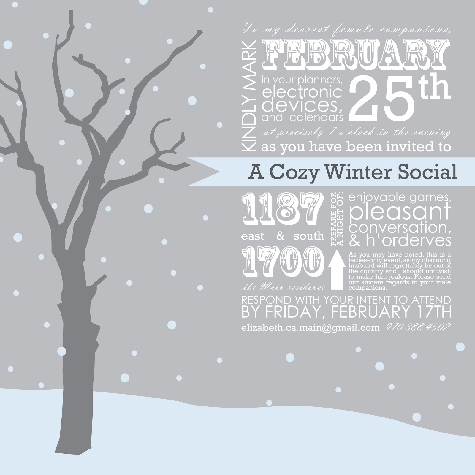 Winter Party Invitation Template – orderecigsjuice.info