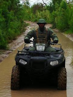 Thomas paroles the Mexican border.