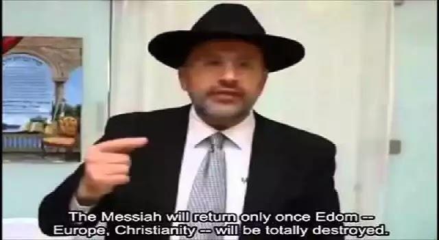 Εβραίος Ραβίνος David Touitou:Για να έρθει ο Μεσσίας, πρέπει να πεθάνει η Ευρώπη και ο Χριστιανισμός