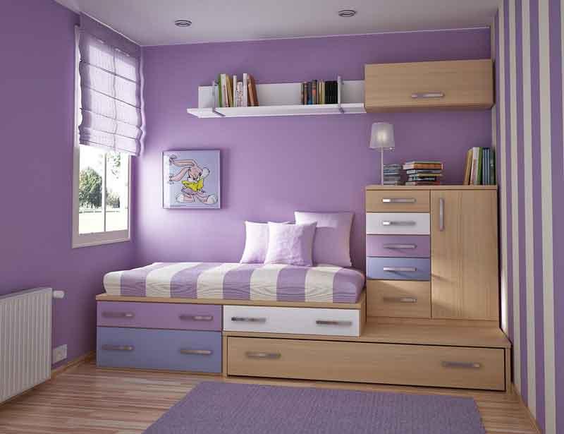 Desain Interior Kamar Tidur Minimalis Type 21
