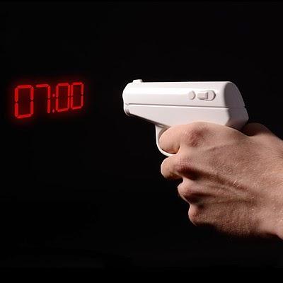 Reloj Despertador Pistola de Agente Secreto