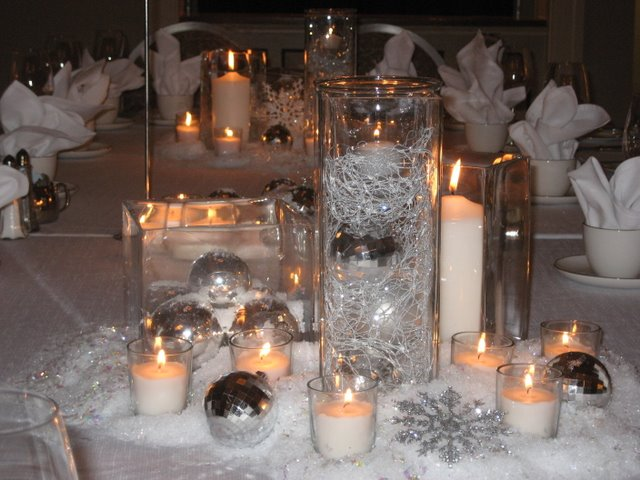 Winter wedding decoration ideas romantic