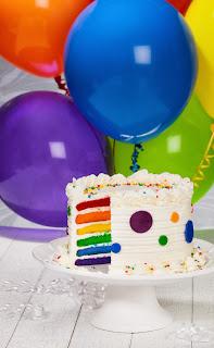 first birthday party ideas for a boy rainbow cake