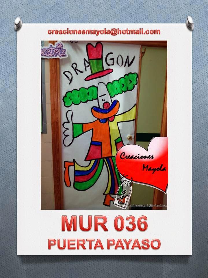 Creaciones mayola puertas decoradas puerta payaso for Puertas decoradas con payasos