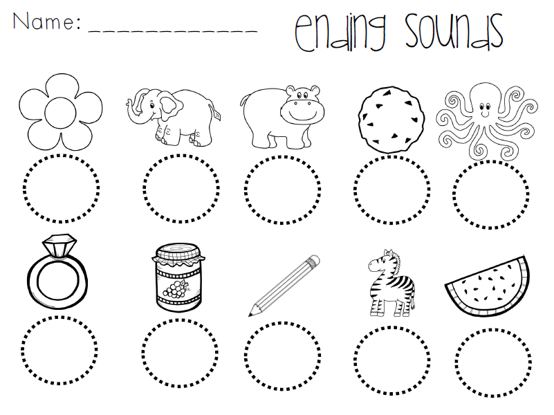 At ending sound picture stop sign black and white clipart heart – Ending Sound Worksheets for Kindergarten