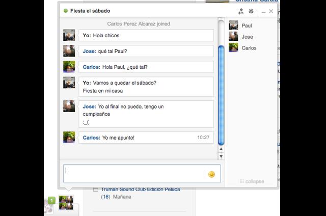 Chat en Grupo Tuenti