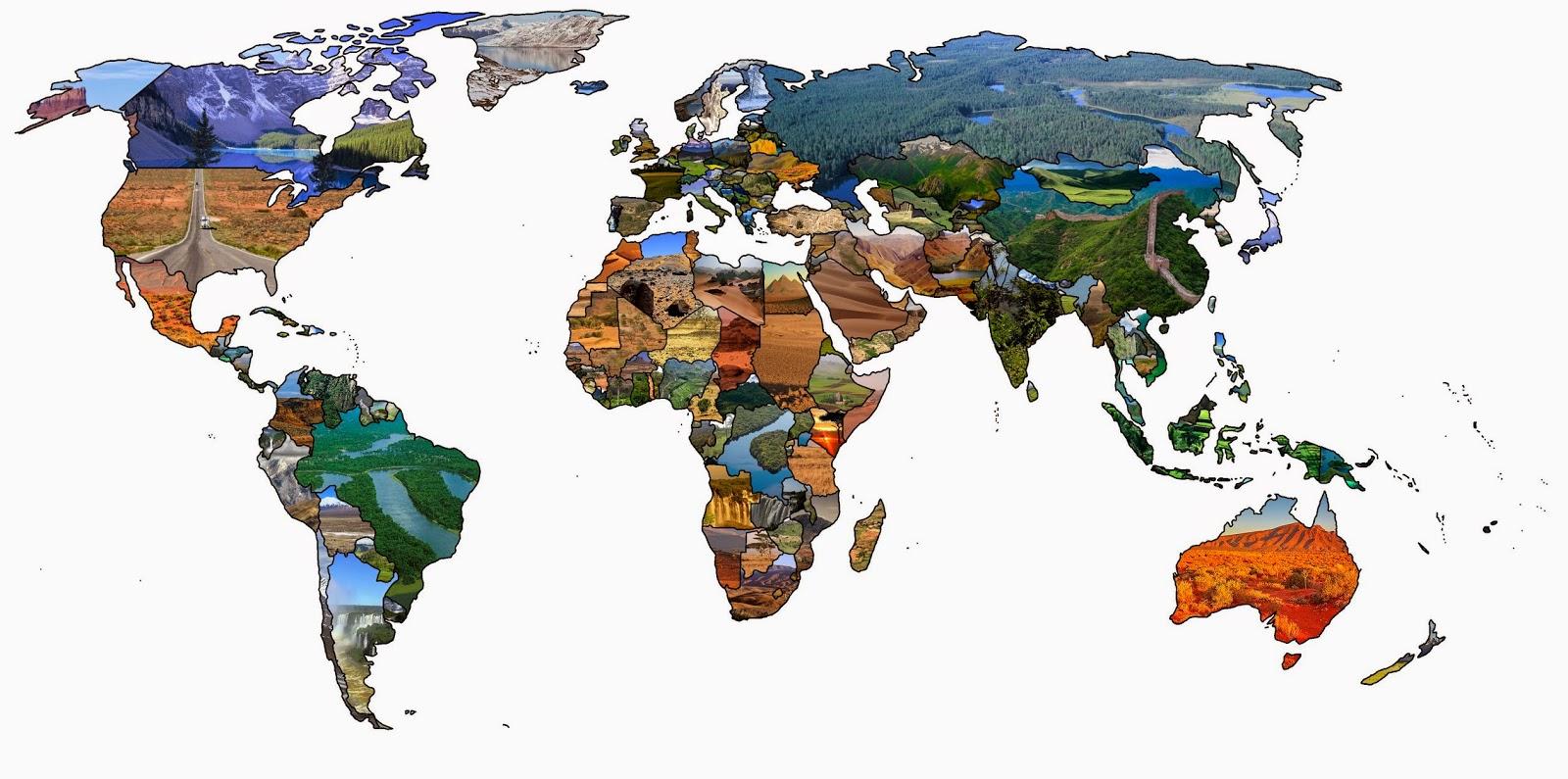Landkartenblog weltkarte der landschaften for Weltkarte mit fotos