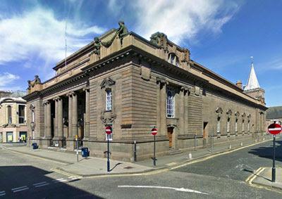 the depressing exterior of Perth's City Halls