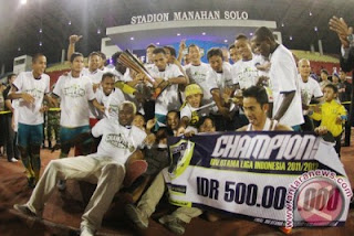 Barito Putera Juara Divisi Utama 2012