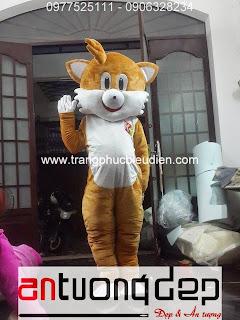 may bán mascot con mèo