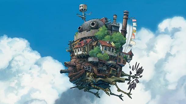 Le château ambulant en vol