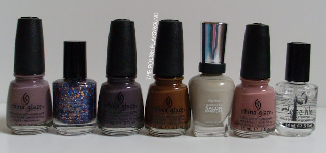 China Glaze, KB Shimmer, Sally Hansen, Seche Vite