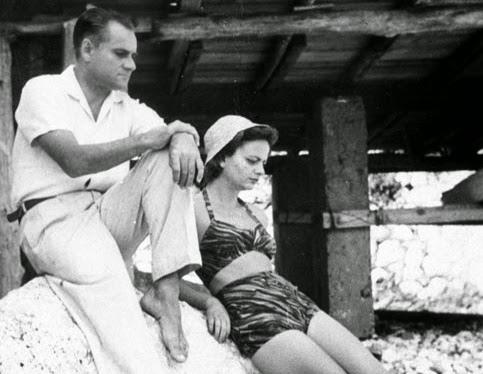 Alberto Moravia y Elsa Morante