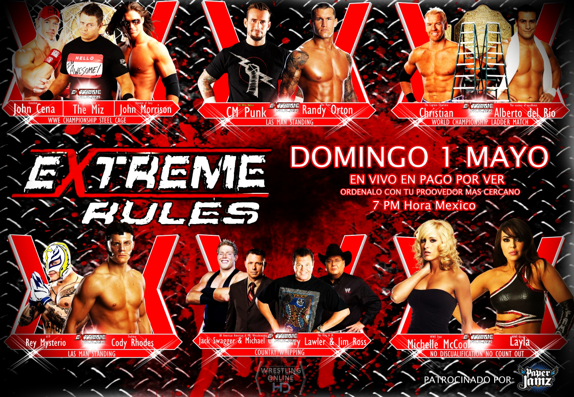 Image result for extreme rules 2011 match